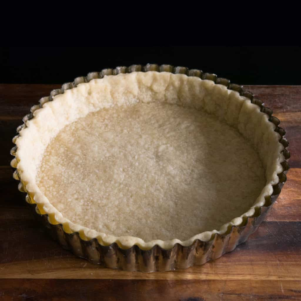 Gluten Free, Vegan Shortcrust Pastry. Baked and ready for filling.