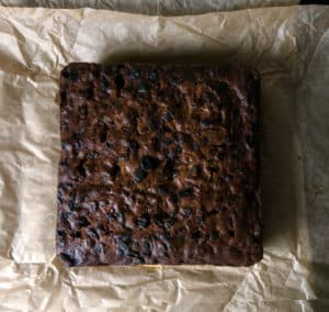 Gluten free, vegan Christmas cake. Gluten free, vegan celebration cake. Ready to decorate