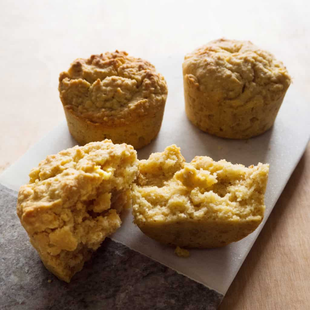 Lemon Polenta Breakfast Muffins