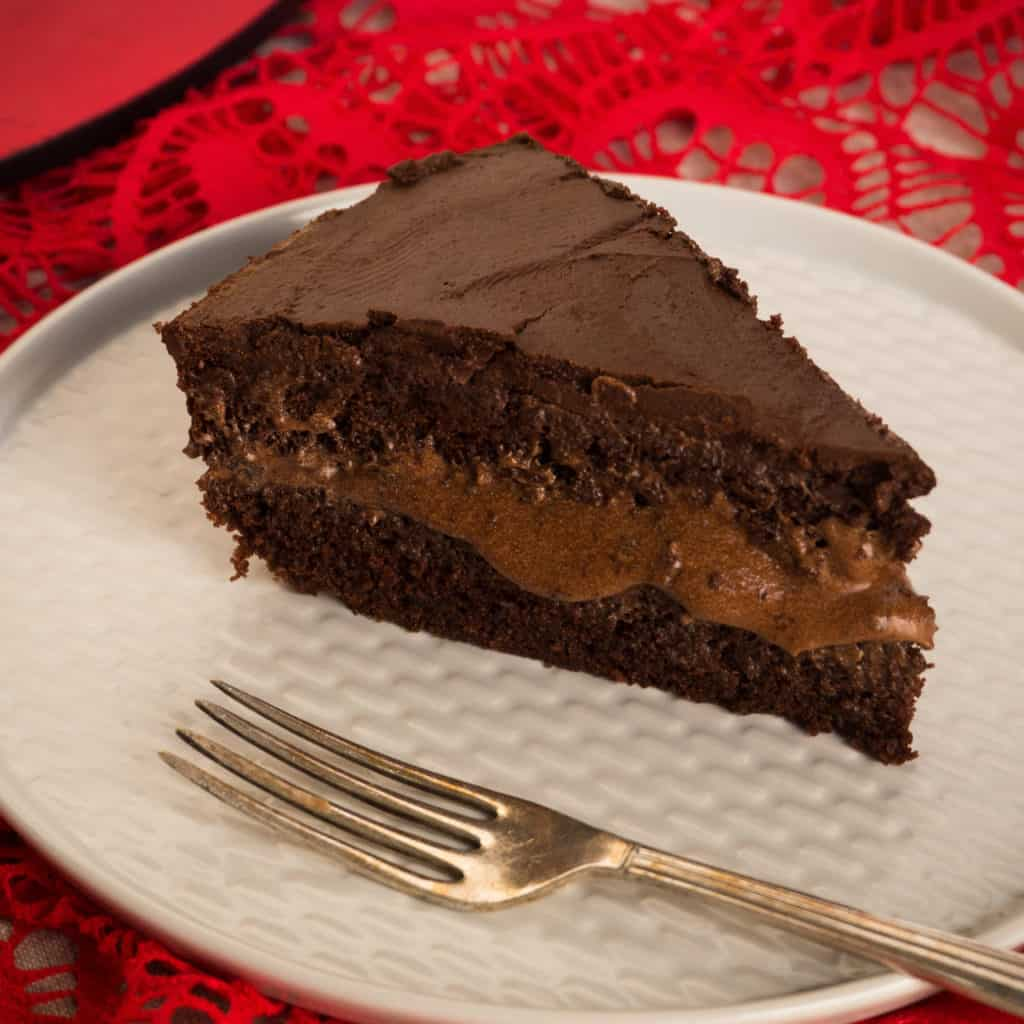Gluten-Free, Vegan Triple Chocolate Cake
